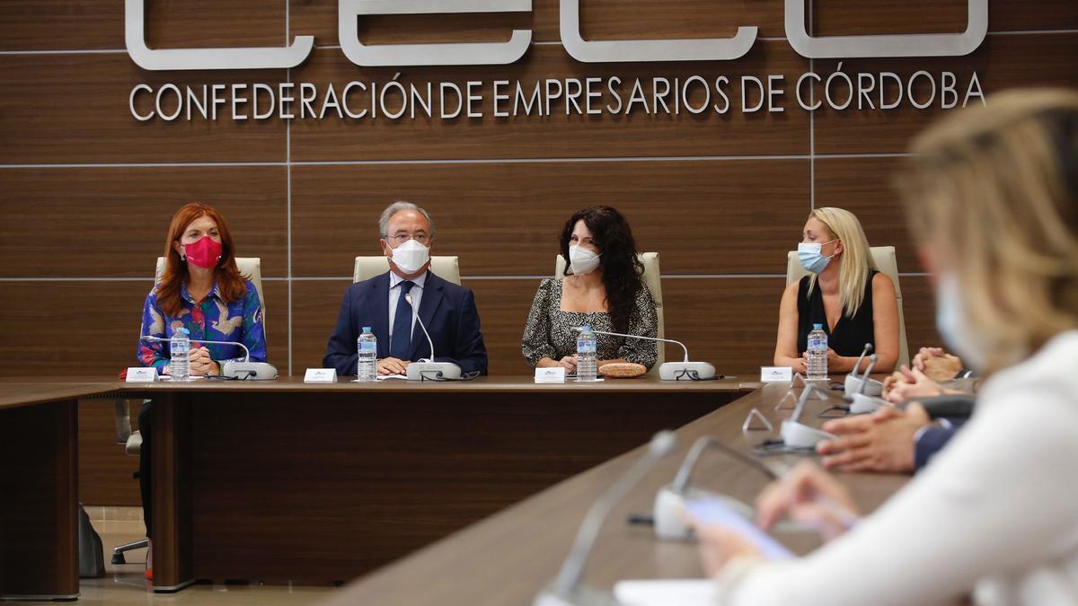 La consejera Rocío Ruiz, este lunes en la sede de CECO.