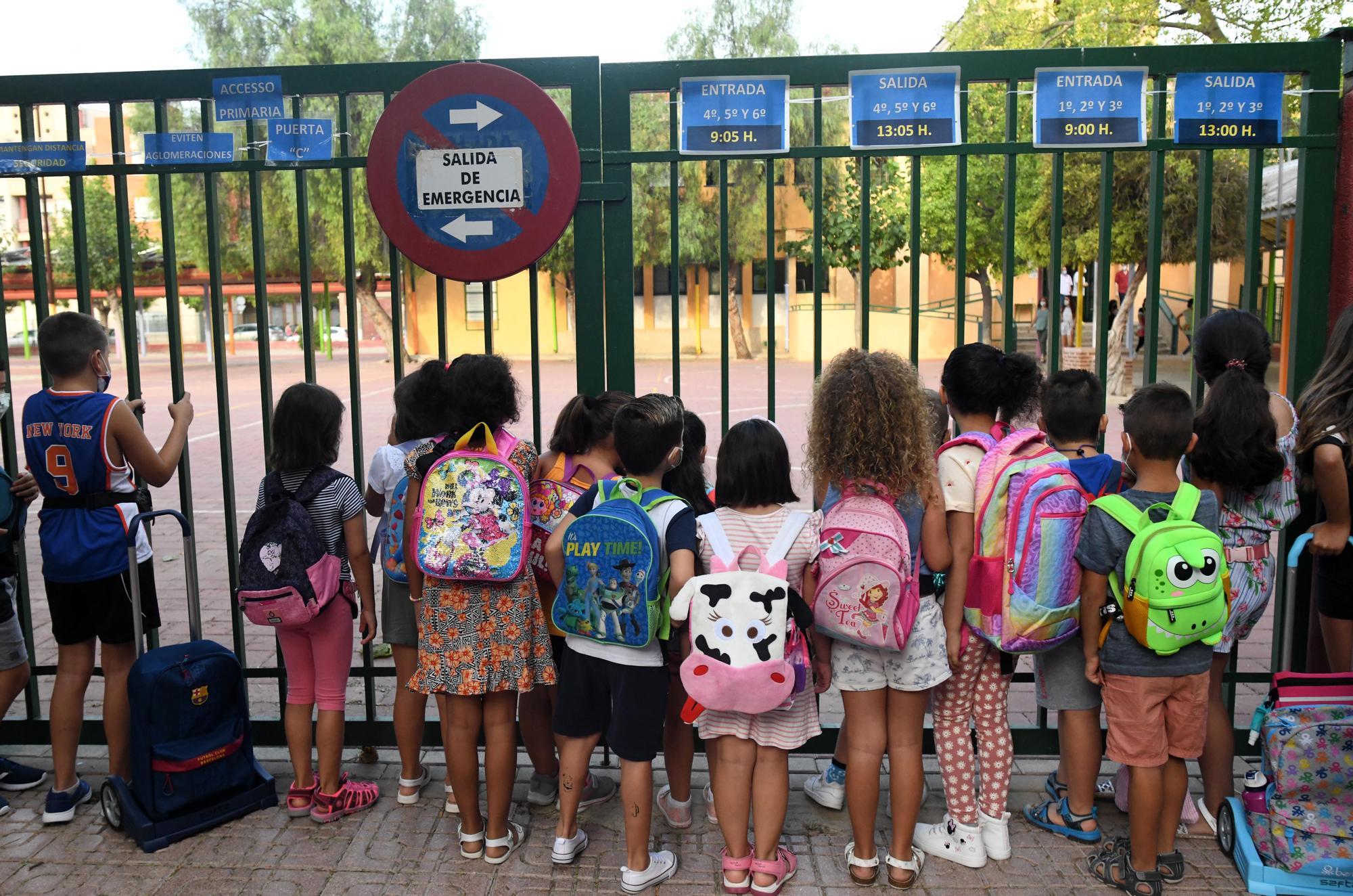 Vuelta al cole en Murcia: así han arrancado las clases en el colegio Vistabella de Alcantarilla