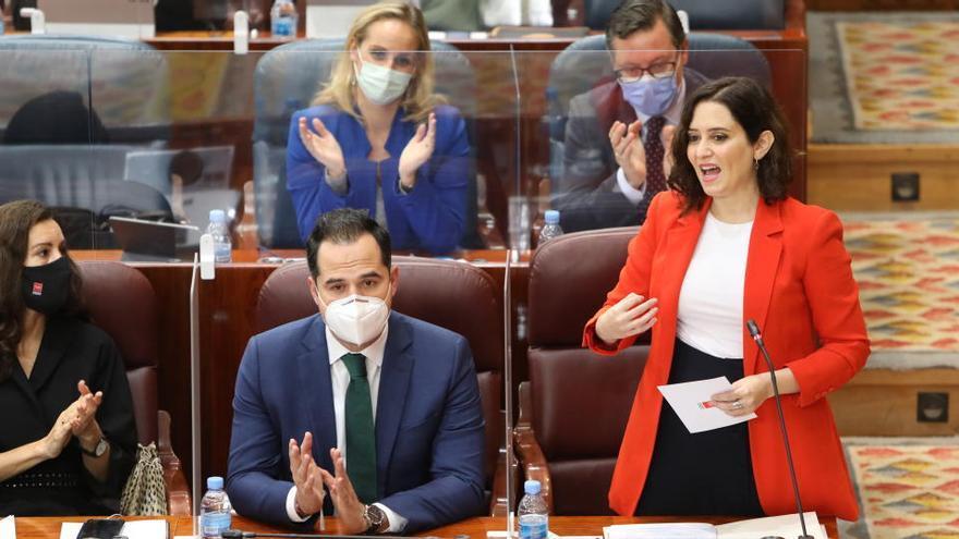 """Ayuso reta al Gobierno a que """"actúe"""": """"Quieren hundir Madrid"""""""