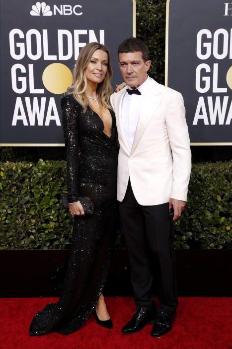 Antonio Banderas junto a su novia, Nicole Kimpel.