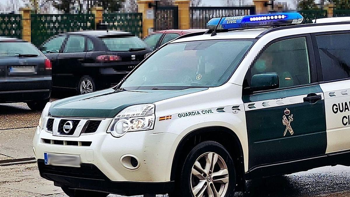 Un coche de una patrulla de Seguridad Ciudadana de la Guardia Civil de Zamora.   G. C.