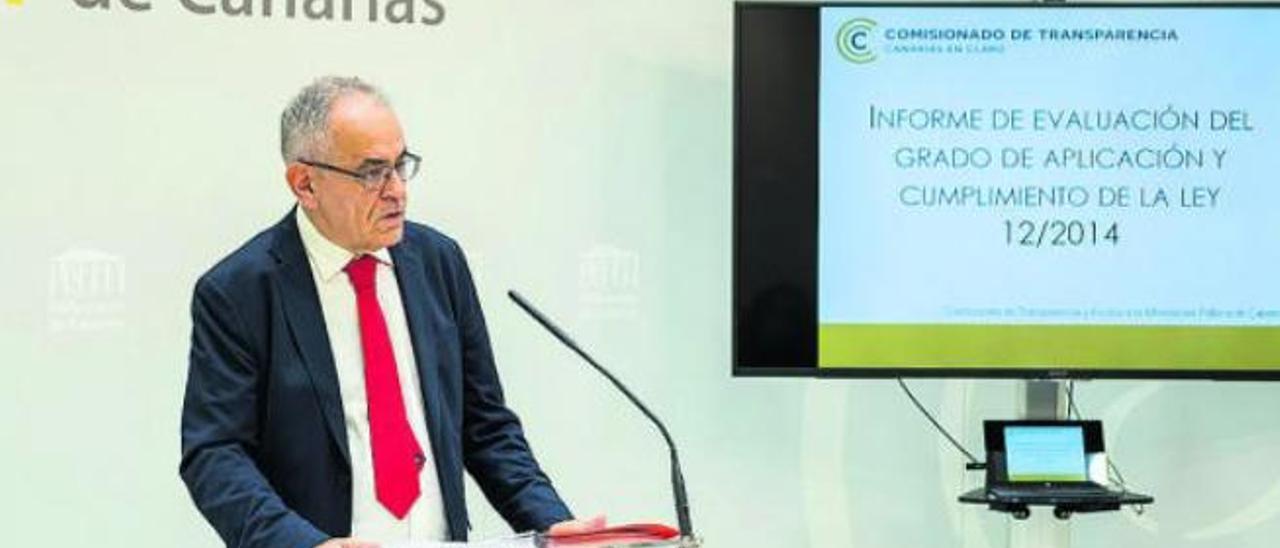 Daniel Cerdán, Comisionado de Transparencia, en una comparecencia en el Parlamento canario.