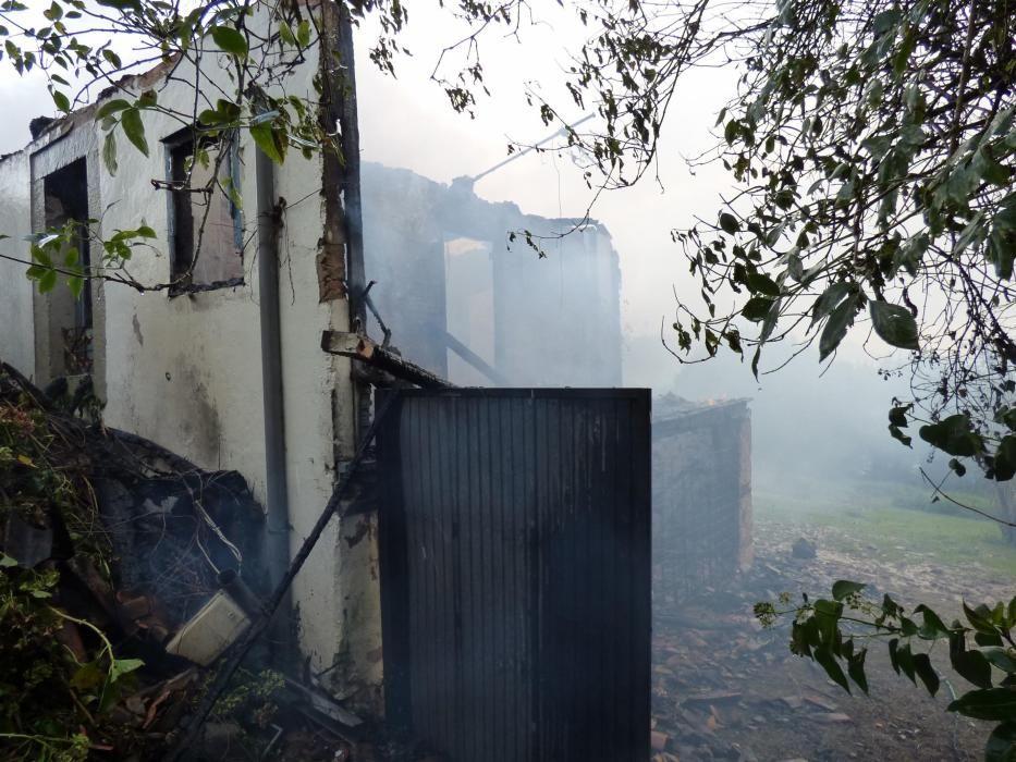 Incendio en una vivienda en Villaviciosa