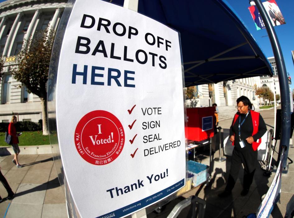 La jornada electoral en EEUU, en imágenes