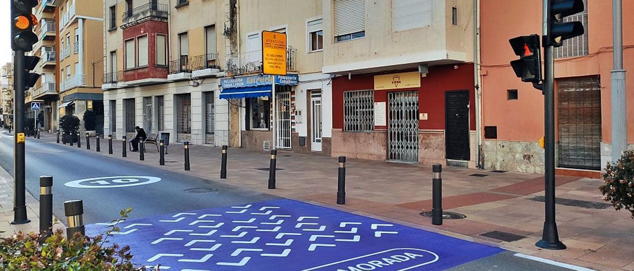 Edificios en la plaza de la Duquessa Maria Enríquez, una de las zonas afectadas por estar dentro del perímetro del Perimmu. | LEVANTE-EMV