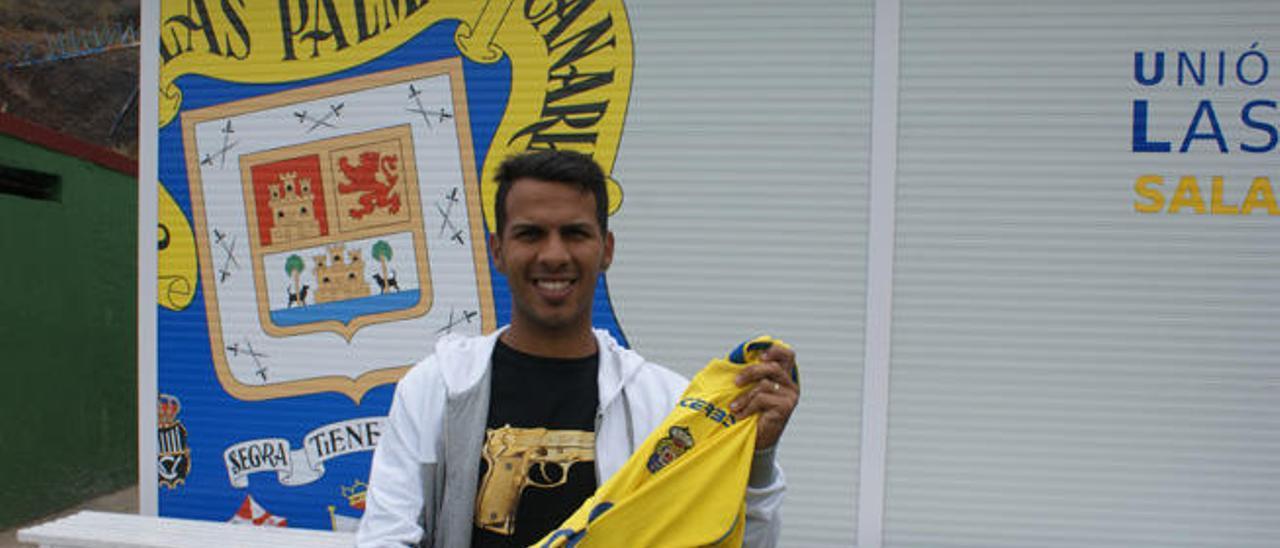 Jonathan Viera Ramos, ayer, tras la sesión de trabajo en Barranco Seco.