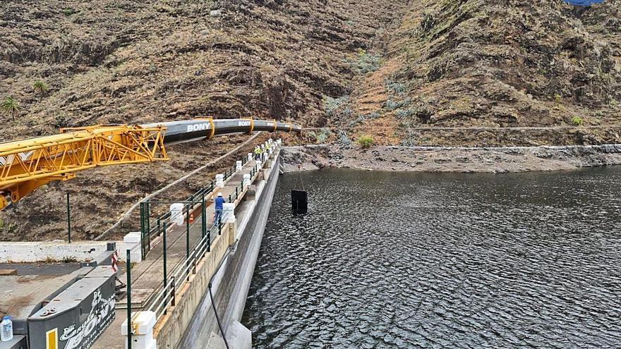 Avanzan los trabajos de mejora en las presas de San Sebastián