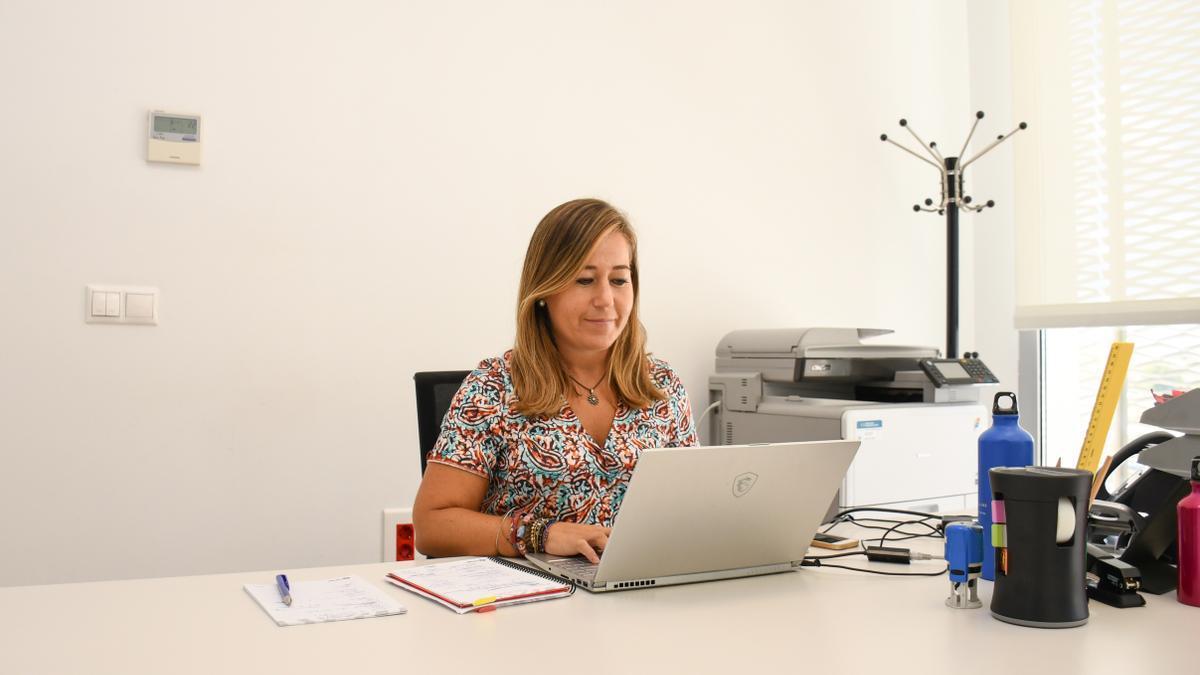 Patricia Rodríguez, en su despacho del Martínez Valero