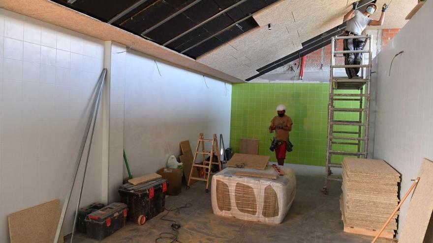 La construcción del campo de fútbol de Pastoriza está al 70% tras 16 meses de obras