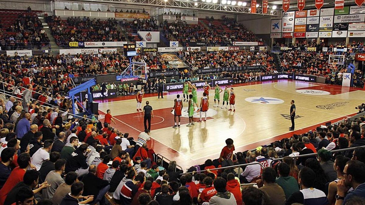 El Nou Congost, en l'últim partit europeu del Baxi, el febrer del 2020 contra el Dinamo Sàsser   FIBA EUROPE