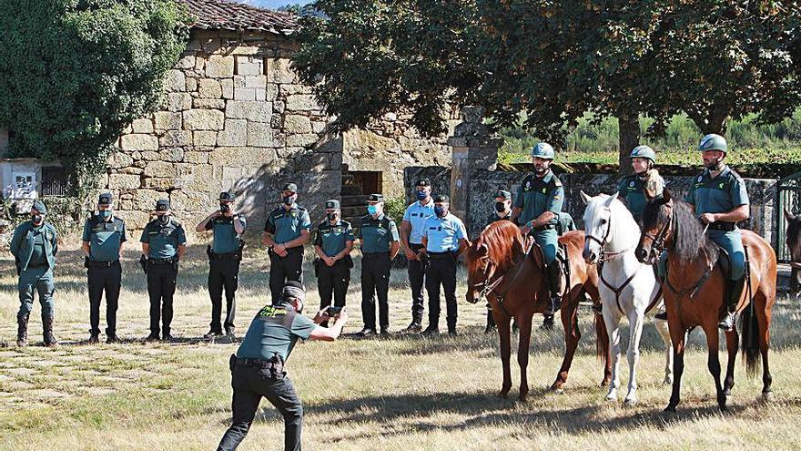 La caballería contra el fuego y el apoyo de la GNR para patrullar