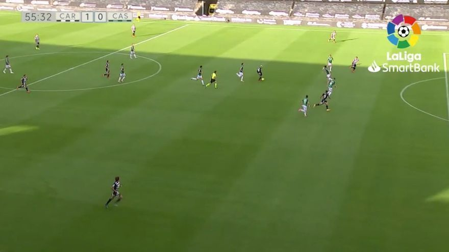 El gol del Cartagena al Castellón, ¿en fuera de juego?