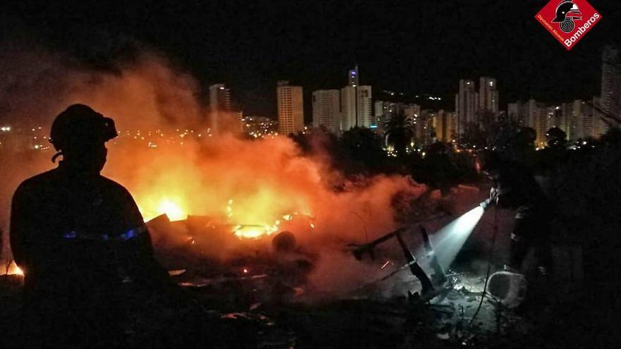 Nuevo incendio en la partida de Armanello en Benidorm