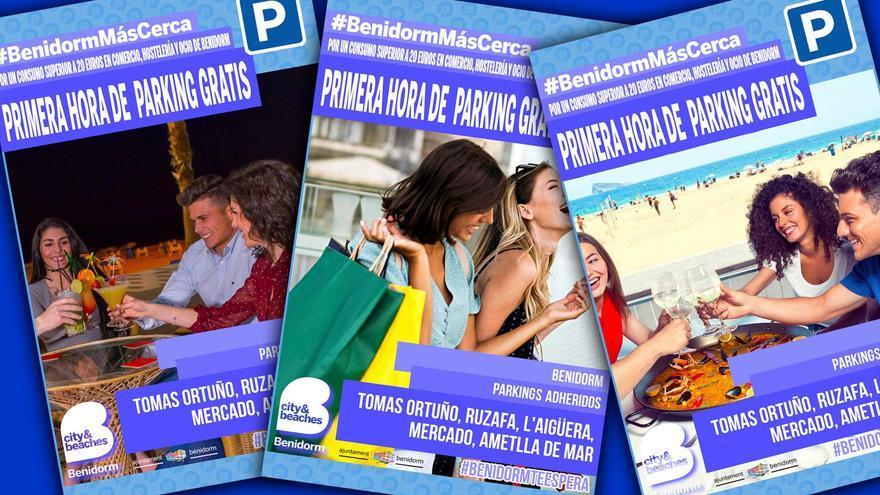 Benidorm amplía hasta finales de año la hora gratis de parking por compras en el comercio local