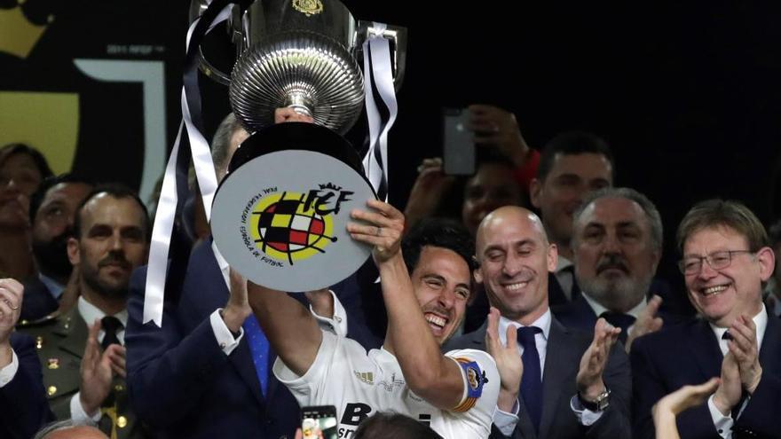 Así ha celebrado el Valencia la Copa del Rey