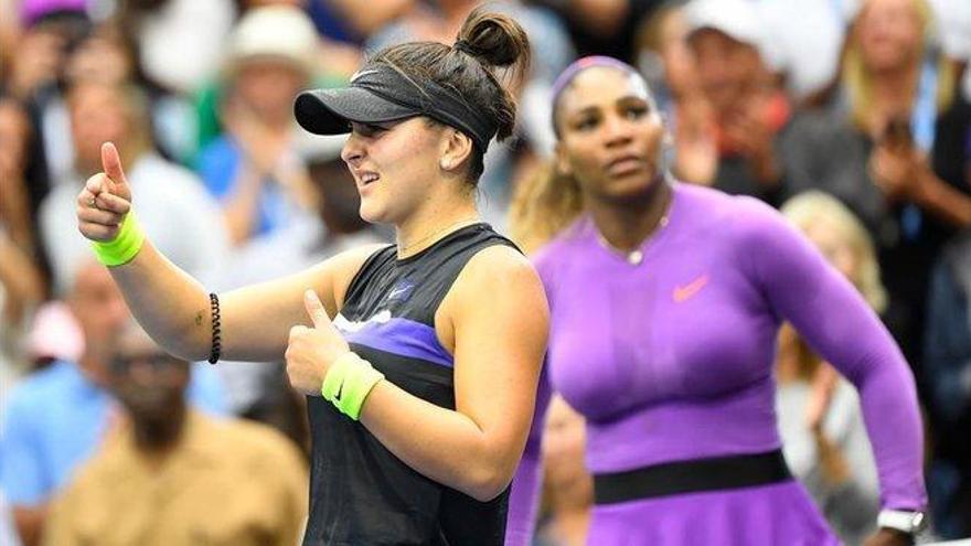 Serena naufraga ante Andreescu, nueva reina de Nueva York