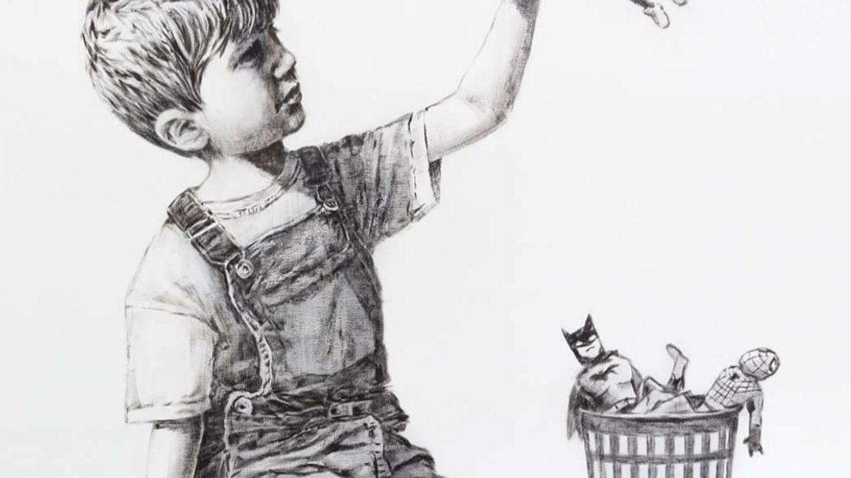 Subastan en Londres una obra de Banksy para ayudar a la sanidad pública