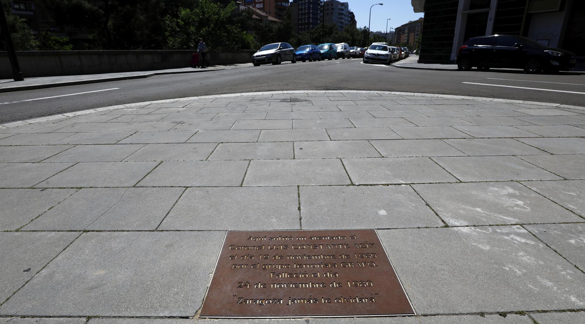 """""""'Zaragoza jamás olvida', las placas del recuerdo"""""""