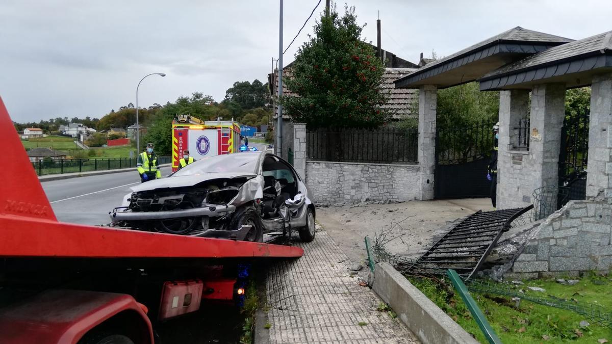El accidente se produjo por una salida de vía.