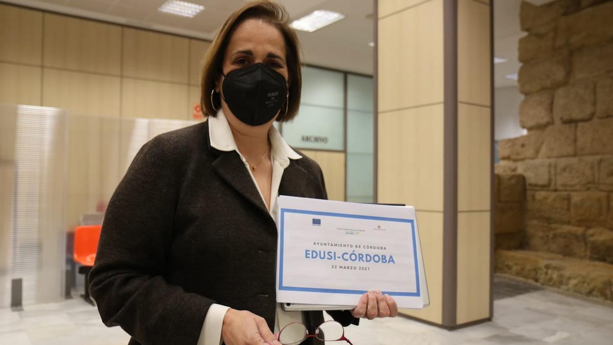 Blanca Torrent, durante la presentación de los proyectos Edusi.