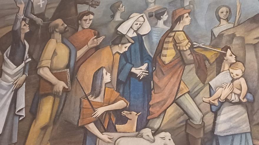 Los otros murales de Siero: la impresionante obra de Casimiro Baragaña en la iglesia de la Pola
