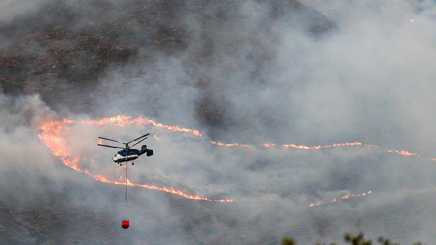 Controlado el incendio de Málaga gracias a la lluvia