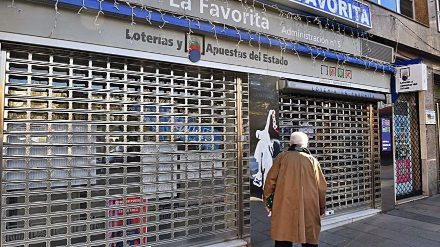 La administración de Loterías La Favorita, en Cuatro Caminos, cerrada por coronavirus