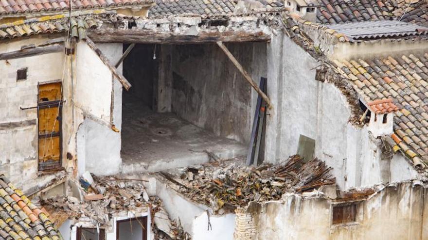 Xàtiva reclama  a 25 dueños que reparen sus casas ante el alto riesgo de derrumbes