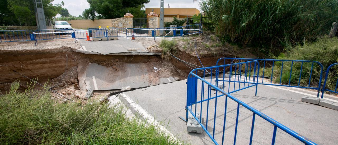 Daños de las lluvias en la partida de la Cañada, en 2019