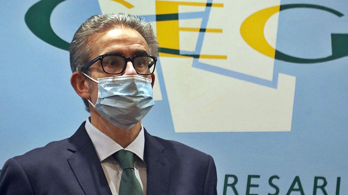 José Manuel Díaz Barreiros, tras su designación como presidente de la CEG. |   // XOÁN ÁLVAREZ