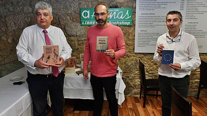 El escritor Joaquín Campos presenta 'Poeta en Pekín' en el restaurante Celeiro
