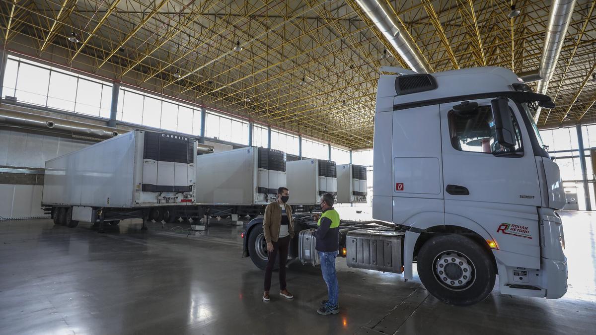 Los camiones con residuos de covid en IFA