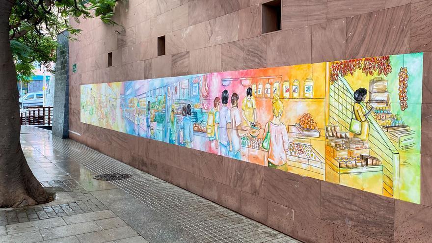 El mercado de San Sebastián de La Gomera estrena mural