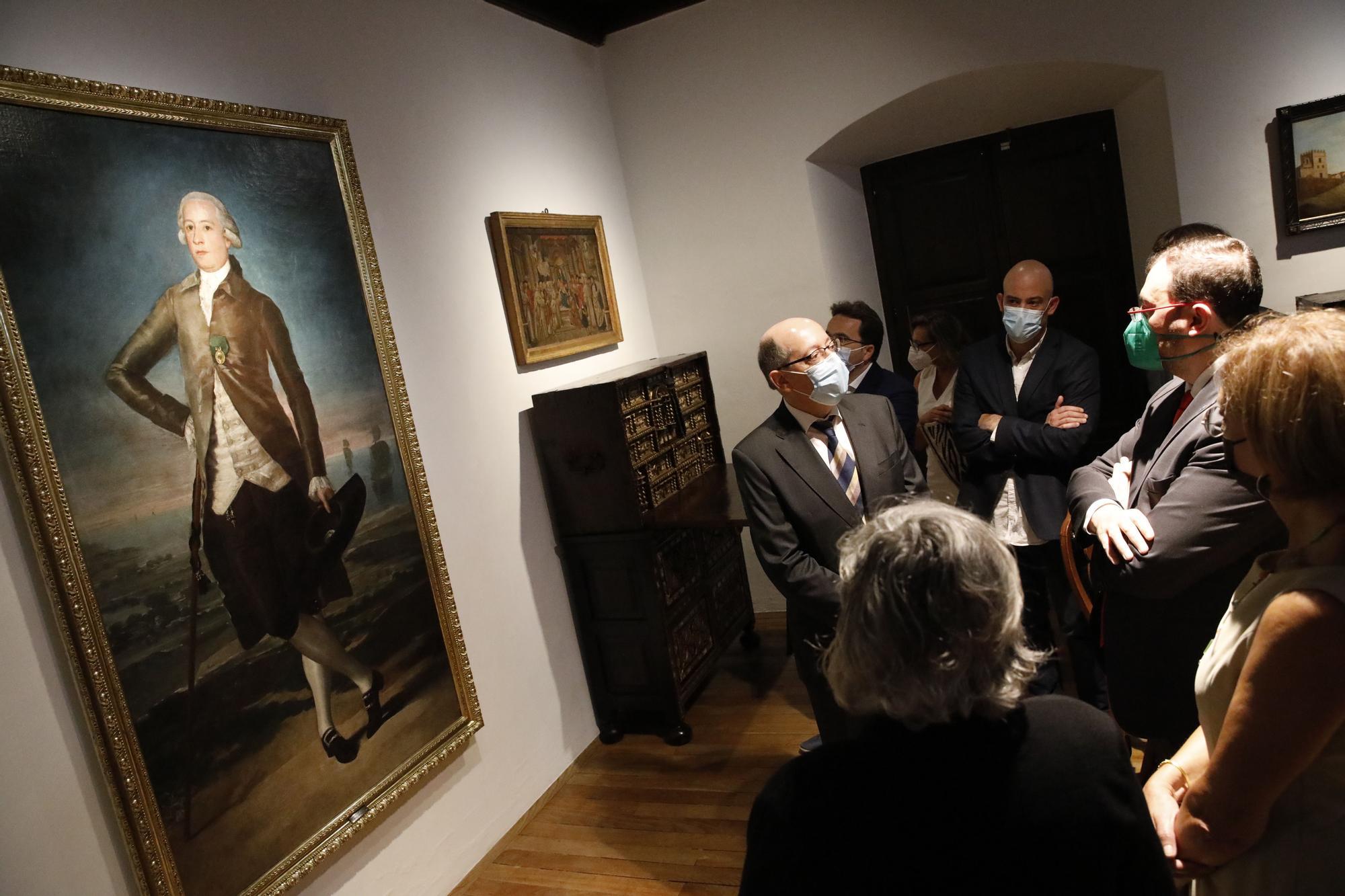 Inauguración de la exposición del retrato de Goya a Jovellanos en el arenal de San Lorenzo en la Casa Natal