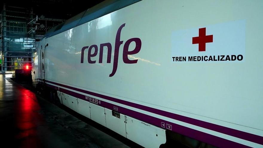 Así son los trenes medicalizados de Renfe para trasladar a enfermos de coronavirus