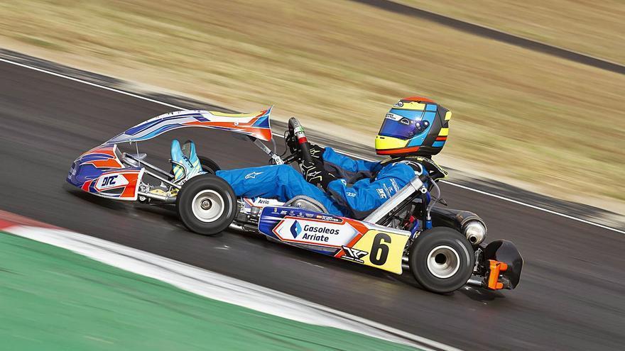 Ismael Fuentes destaca en el Campeonato de Andalucía de Karting