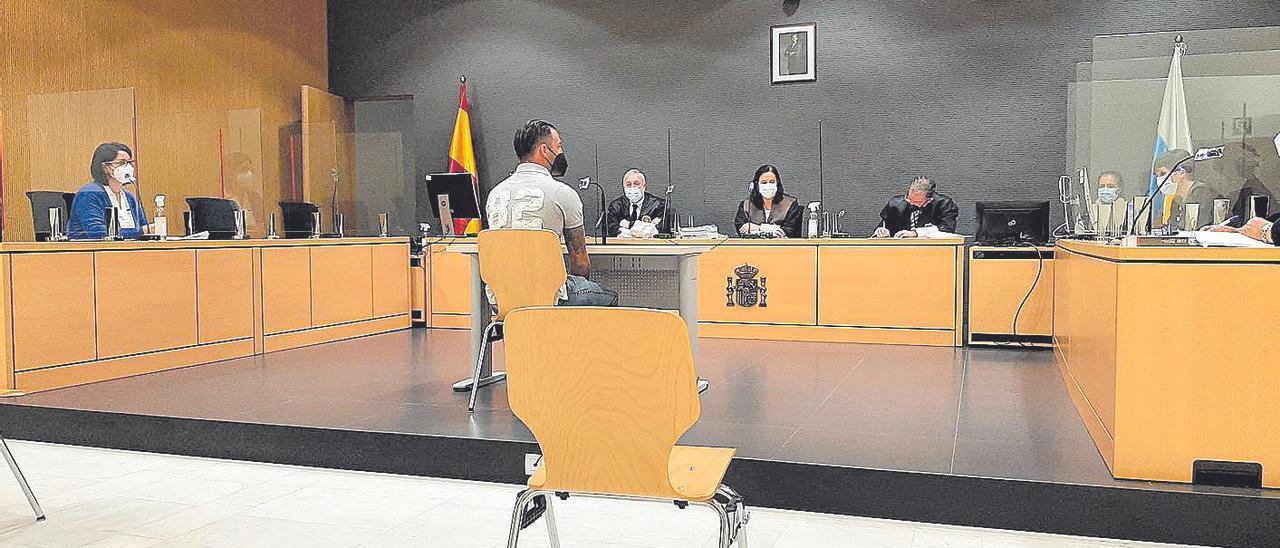Felipe Santiago durante el juicio celebrado en la Audiencia Provincial de Las Palmas.