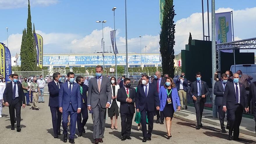 Felipe VI respalda al sector oleícola español con su presencia en la inauguración de Expoliva 2021