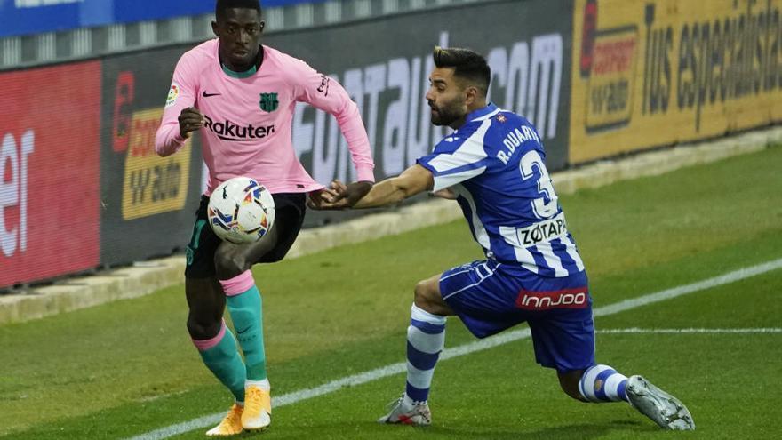 El Barcelona consigue rascar un punto al Alavés