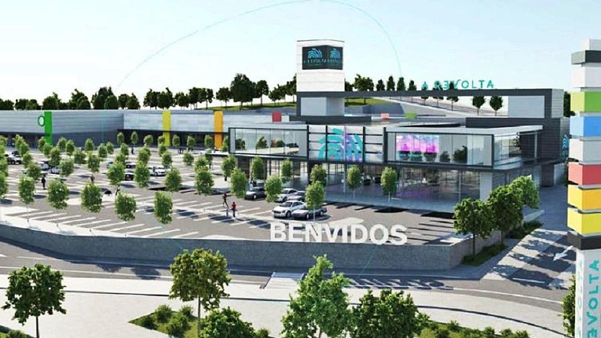 Recreación en 3D del futuro parque comercial. |   // A REVOLTA