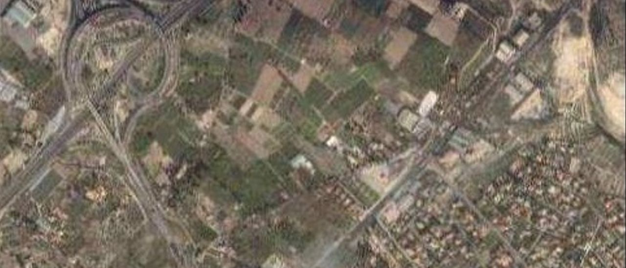 Imagen aérea de la zona donde se desarrollará el parque empresarial