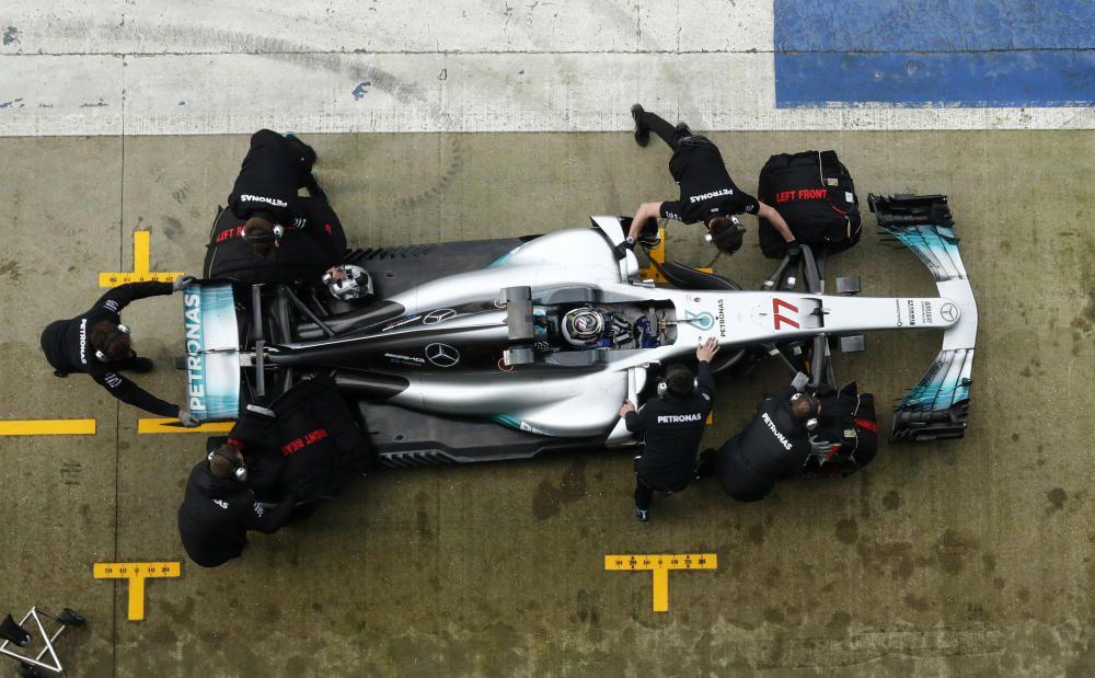 Presentación del nuevo monoplaza de Mercedes