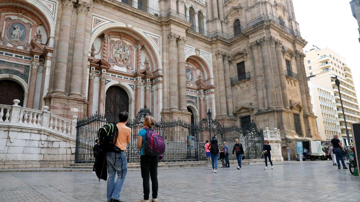 Turistas en el centro de Málaga.