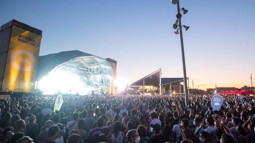 Más 2.200 personas se contagiaron en festivales de música en Cataluña