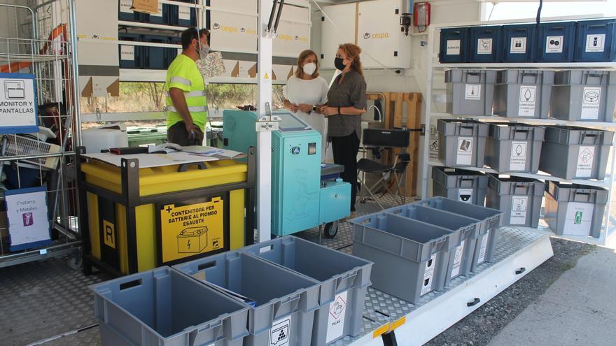 Benicàssim duplica el reciclaje en el ecoparque durante julio
