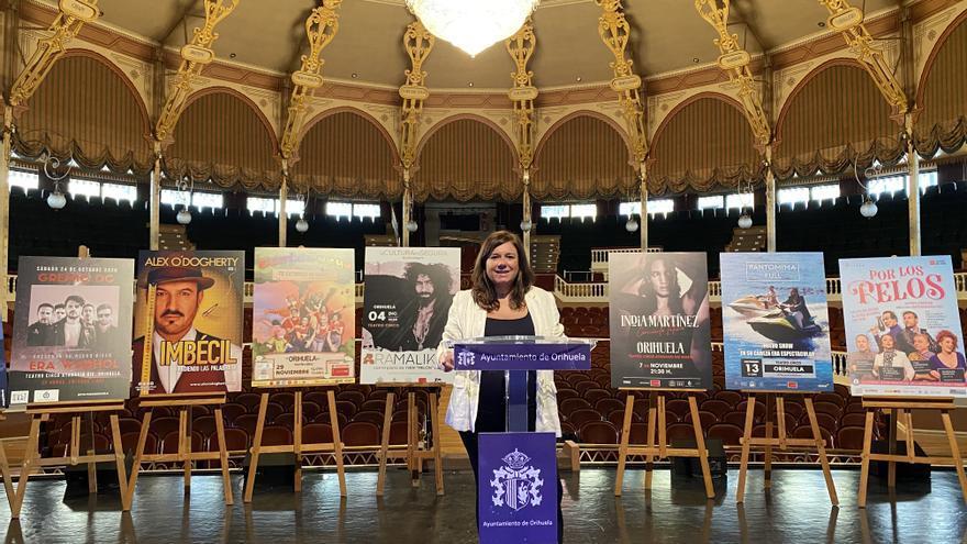 Imagen de la rueda de prensa de la concejal de Cultura, Mar Ezcurra