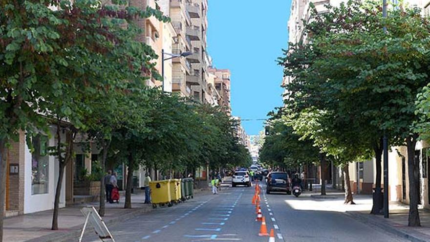 La avenida Aragón en Alcañiz recuperará sus dos sentidos de circulación