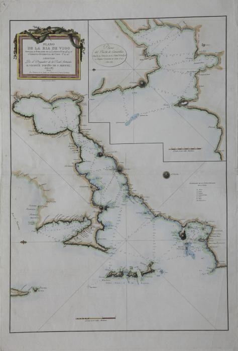 Plano de la ría de Vigo, de Tofiño (1787)