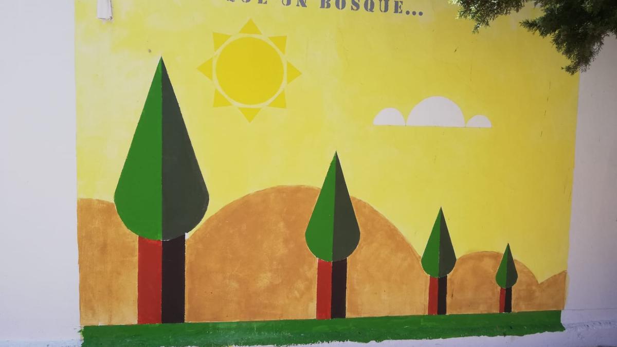 Resultado del mural titulado 'Más que un bosque'.
