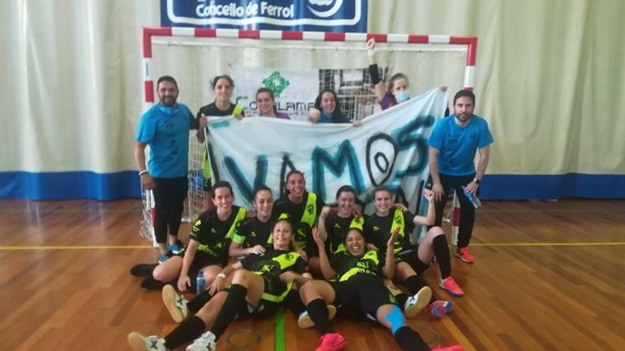 Goleada del Marín Futsal para meterse en la fase final por el ascenso a Primera